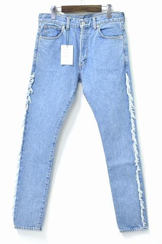 【新品】MISTERGENTLEMAN (ミスタージェントルマン) SIDE FRINGE SKINNY DENIM PANTS サイドフリンジスキニーデニムパンツ JEANS ジーンズ MGJ-DE01 NEW BLUE MADE IN JAPAN 32