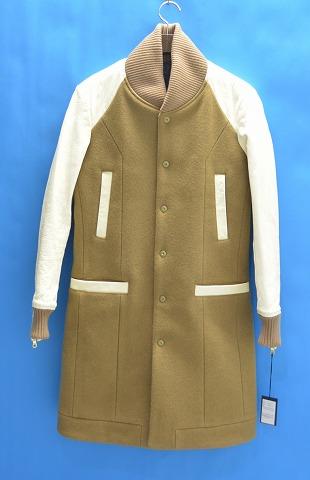 【新品同様】 CRUCE&Co. (クルーチェ アンド コー) Varsity Chesterfield Coat バーシティーチェスターフィールドコート CC216-VJ11  BEIGE S クルーチェ&コー スタジャン ヴァーシティー