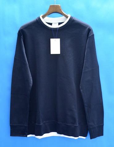 【新品】 Mr. GENTLEMAN (ミスタージェントルマン) LAYERED L/S TEE レイヤード長袖Tシャツ MG-TP10 NAVY S ロンTEE カットソー T-SHIRTS 切り替え MADE IN JAPAN