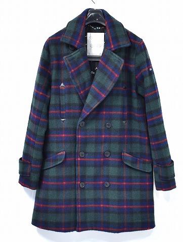 【中古】X-GIRL (エックスガール)LONG PEA COAT ロングピーコート CHECK PEA COAT Pコート 2 0544506
