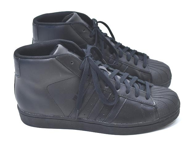 【新品】adidas (アディダス) PRO MODEL Triple Black プロモデル ハイカット ミッドカッド PROMODEL 限定 スニーカー Core Black スーパースターSUPER STAR 黒 10.5 S85957 CORE BLACK LEATHER