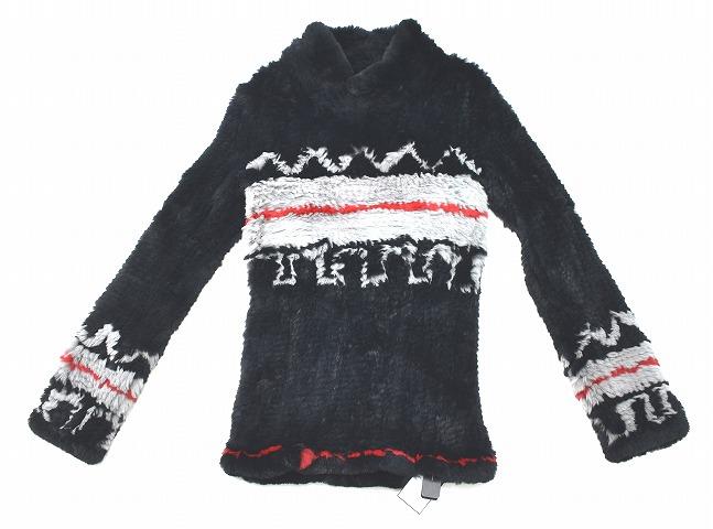 【新品】 CRUCE&Co. (クルーチェ アンド コー) Stretch Rabbit Fur PullOver ストレッチラビットファープルオーバー ニット セーター BLACK M