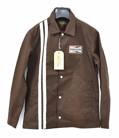 【新品】 Finders Keepers (ファインダーズキーパーズ) FK-GENUINE WORK JACKET ジェニュイン ワークジャケット オーセンティック コーチジャケット 40612504 BROWN M  MADE IN JAPAN