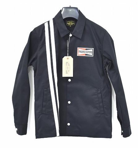 【新品】 Finders Keepers (ファインダーズキーパーズ) FK-GENUINE WORK JACKET ジェニュイン ワークジャケット オーセンティック コーチジャケット 40612504 BLACK SMALL  S  MADE IN JAPAN