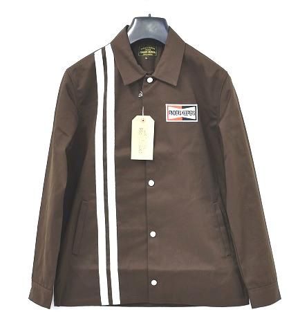 【新品】 Finders Keepers (ファインダーズキーパーズ) FK-GENUINE WORK JACKET ジェニュイン ワークジャケット オーセンティック コーチジャケット 40612504 BROWN L  MADE IN JAPAN ブルゾン