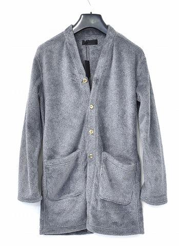 【新品】 CRUCE&Co. (クルーチェ アンド コー) Faux-fur lounge cardigan フォーファーカーディガン ロングカーディガン フェイクファー 毛皮 MADE IN JAPAN フリースコート COAT GREY M