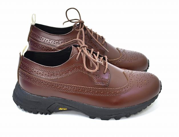 【新品】ORPHIC(オルフィック)HELLION PREMO ヘリオンプリモ BROWN 7.0 デザート ウイングチップシューズ スニーカー VIBRAM SOLE ハイブリッドシューズ 革靴