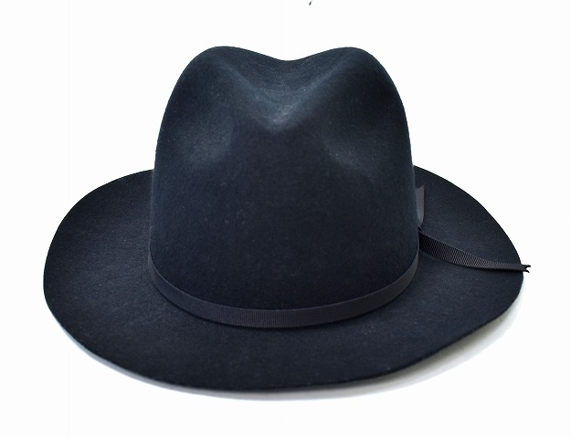 【新品】 O.C CREW (オーシークルー)COPPERS HAT カッパーズハット ウールハット 中折れハット ポークパイハット キャップ MADE IN JAPAN BLACK M 帽子
