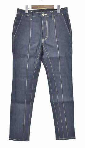 【新品】 CRUCE&Co. (クルーチェ アンド コー) Rigid Denim Slacks Pants リジットデニムスラックス デニムパンツ JEANS ジーンズ MADE IN JAPAN INDIGO S