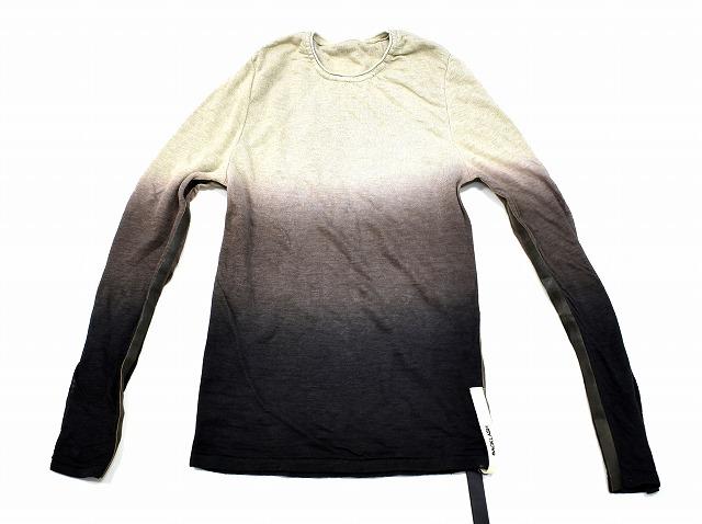 【新品】ISAMU KATAYAMA BACKLASH (イサムカタヤマ バックラッシュ)リネン2重折り+シープ カットソー LINEN CUTSAW ニット セーター BROWN S 羊革 MADE IN JAPAN