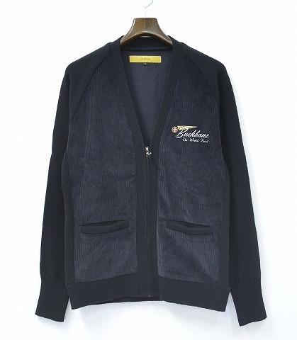 【新品】 BACK BONE (バックボーン) LOW GAUGE KNIT V-NECK ZIPPERD CARDIGAN ローゲージニットVネックジップアップカーディガン M BLACK MADE IN JAPAN