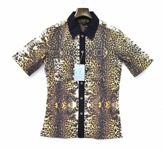 【新品】 BACKBONE THE BASIS (バックボーンザベイシス)LEOPARD SHIRT レオパードシャツ 半袖シャツ 2TONE ヒョウ柄 S MADE IN JAPAN