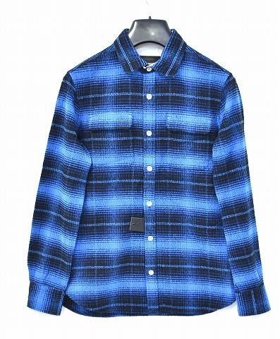 【新品】 BACK BONE (バックボーン) LOOP YARN COTTON FLANNEL CHECK SHIRT BLUE ループヤーンコットンフランネルシャツ 長袖チェックシャツ 背ロゴ MADE IN JAPAN L BB16SS-S14