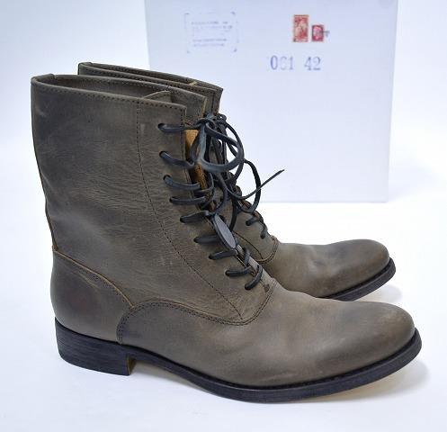 【新品】SAK (サク) Lace-up Boots Reverse レースアップブーツ 編み上げ 42 BROWN RYUSAKU HIRUMA レザー