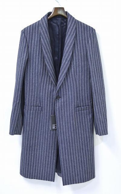 【新品】1205 (Twelve O Five、Twelve Zero Five、ドーディチ・ゼロ・チンクエ イチニーゼロゴ)Herringbone Shawl Collar Coat ヘリンボーンショールカラーコート チェスター M NAVY 12/05