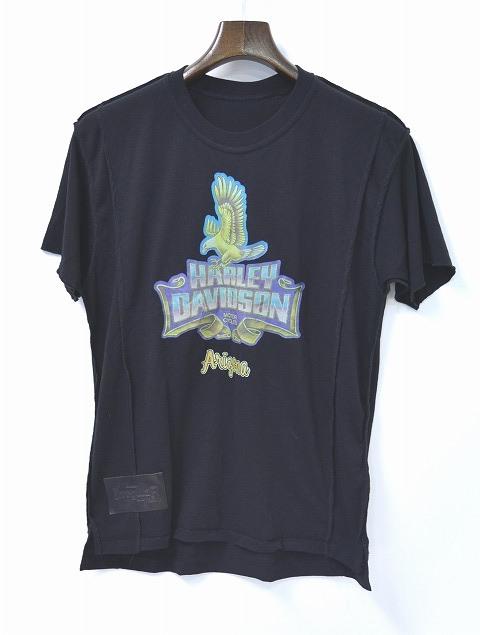 【新品同様】 IrregulaR by ZIP STEVENSON (イレギュラー バイ ジップスティーブンソン) REMAKE S/S TEE リメイクTシャツ T-SHIRT M BLACK アメリカ製 HARLEY DAVIDSON ARIZONA ハーレーダヴィットソン アリゾナ
