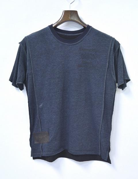 【新品同様】 IrregulaR by ZIP STEVENSON (イレギュラー バイ ジップスティーブンソン) REMAKE S/S TEE リメイクTシャツ T-SHIRT S GREY アメリカ製 BOSTON COLLEGE ボストン大学