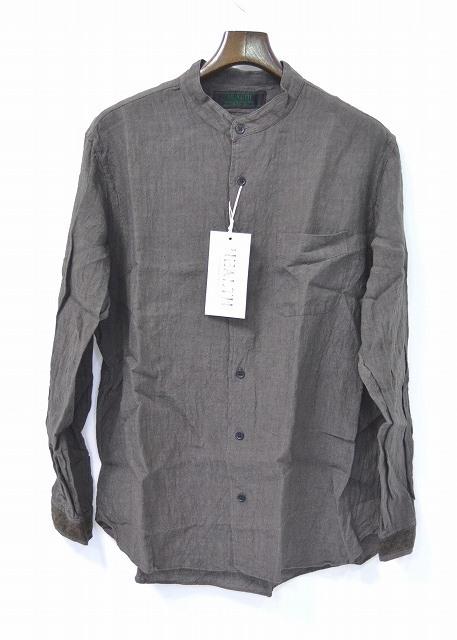 【新品】 HEALTH (ヘルス) Closely Shirts リネンシャツ CHARCOAL BLACK M