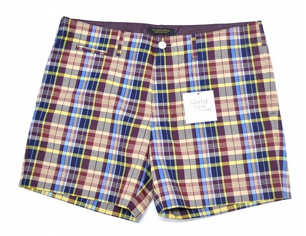 【新品】 Mr.GENTLEMAN (ミスタージェントルマン) MADRAS CHECK SHORTS マドラスチェックショーツ ショートパンツ ハーフパンツ 短パン RED CHECK XL