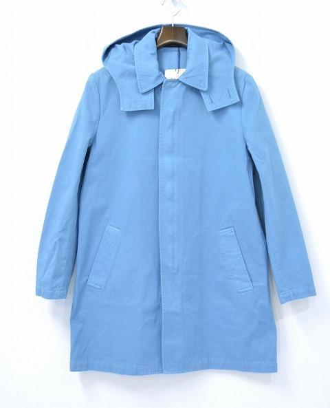 【新品】GENTLEMAN(ミスター・ジェントルマン) HOODIE STAINCOLLAR COAT フーデッド ステンラーコート MG15S-OT01 BLUE S