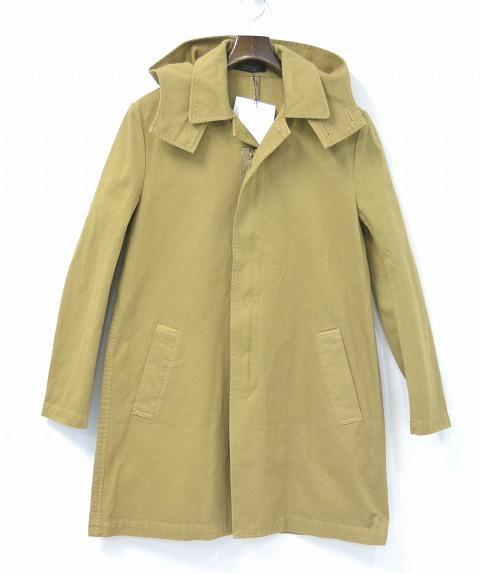 【新品】GENTLEMAN(ミスター・ジェントルマン) HOODIE STAINCOLLAR COAT フーデッド ステンラーコート MG15S-OT01 BEIGE S