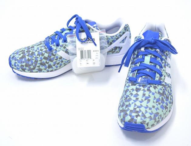 best service 197c6 afe43 ... adidas ORIGINALS (adidas) ZX Flux Weave Shoes Blue (B34474) z x wave  BLUE ...