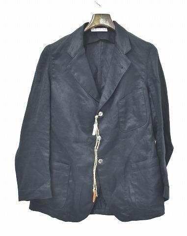 【新品】 LEROY (リロイ) Linen Tailored Jacket BLACK 1 リネンテーラードジャケット