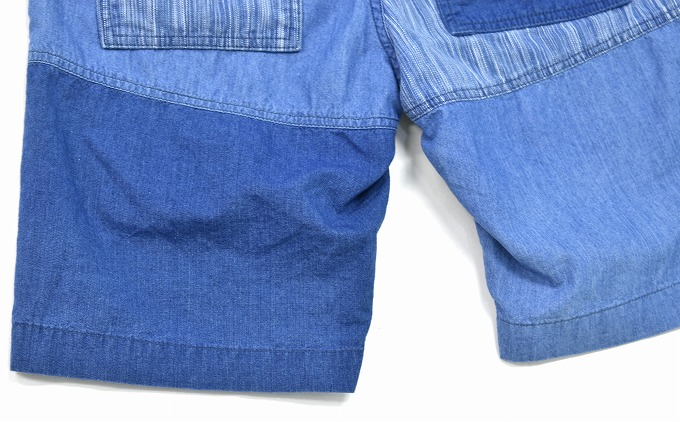FDMTL BORO PATCHWORK SHORT PANTS 2YR WASH