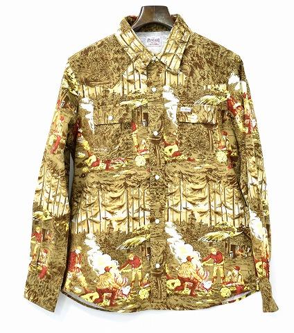 【新品】 STANDARD CALIFORNIA (スタンダードカリフォルニア) Print Flannel Western Shirt エスディー プリントフランネルウエスタンシャツ 長袖シャツ BROWN L/S LARGE L スタカリ MADE IN JAPAN
