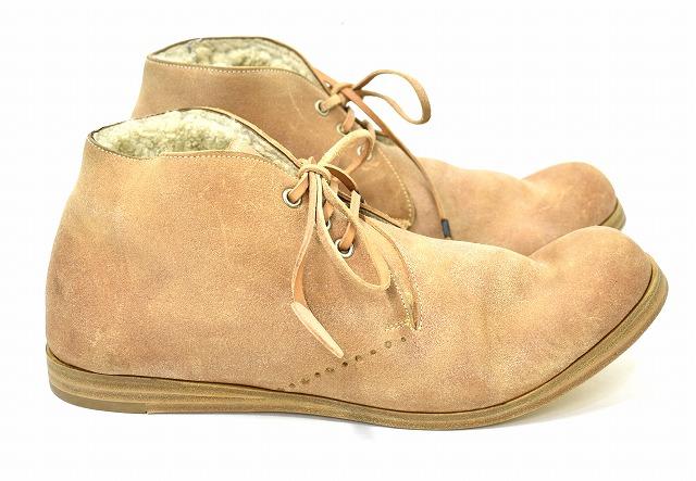 【新品】 SAK(サク) Chukka Boots チャッカブーツ WhiteMoutonLining-Reverse Natural 42 レザーシューズ ムートン MADE IN ITALY