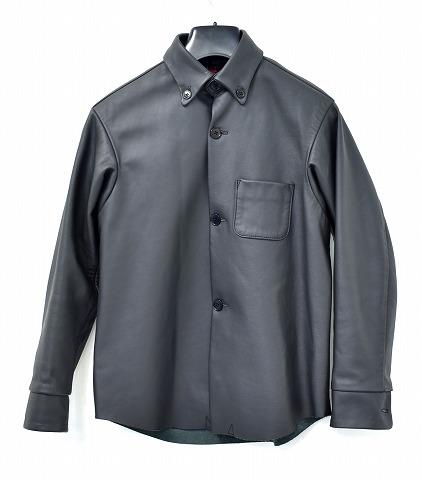 【中古】BRU NA BOINNE (ブルーナボイン) ターナージャケット レザージャケット LEATHER JACKET ボタンダウン ブルゾン BLACK 1 MADE IN JAPAN