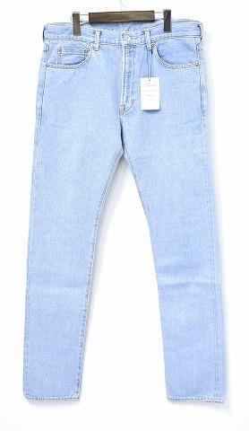 【新品同様】【訳あり】 Mr. GENTLEMAN (ミスタージェントルマン) SKINNY DENIM PANTS スキニーデニムパンツ MG-DE06 ジーンズ jeans MADE IN JAPAN MISTERGENTLEMAN ICE BLUE 34 セルビッチ