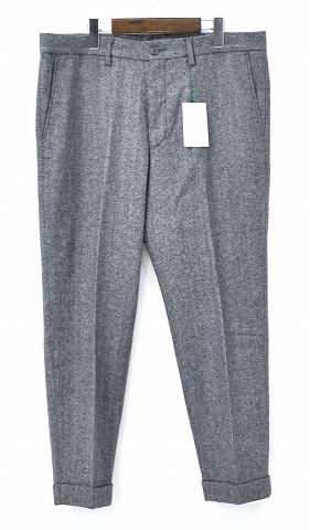【新品】 Mr.GENTLEMAN (ミスタージェントルマン) MG-TR04 WOOL PANTS TWEED GREY ウールパンツ 9分丈パンツ スラックス クロップド 丈 MADE IN JAPAN XL MISTERGENTLEMAN