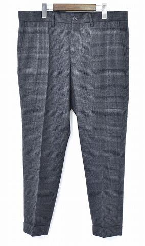 【新品】 Mr.GENTLEMAN (ミスタージェントルマン) MG-TR04 WOOL PANTS GLENCHECK GREY グレンチェックウールパンツ 9分丈パンツ スラックス クロップド 丈 MADE IN JAPAN MISTERGENTLEMAN TROUSERS XL