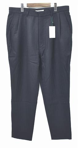 【新品】 MISTERGENTLEMAN (ミスタージェントルマン) MGL-TR10 WOOL MODERN PANTS ウールモダンパンツ 9分丈パンツ スラックス クロップド 丈 MADE IN JAPAN Mr.GENTLEMAN BLACK XL