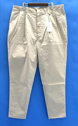 【新品】 MISTERGENTLEMAN (ミスタージェントルマン) MGK-TR04 CHINO MODERN PANTS チノモダンパンツ プリーツ パンツ 2タック MADE IN JAPAN Mr.GENTLEMAN BEIGE XL 9分丈 クロップド