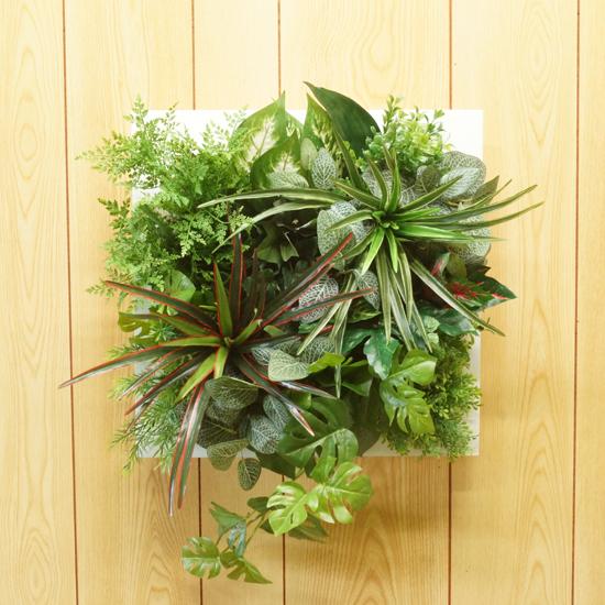壁掛けグリーンフレーム(造花·フェイク)事務所 店舗 看板·フェイクグリーン·人工観葉植物