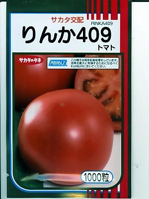 サカタ交配 りんか409   サカタのタネの大玉トマト品種です。