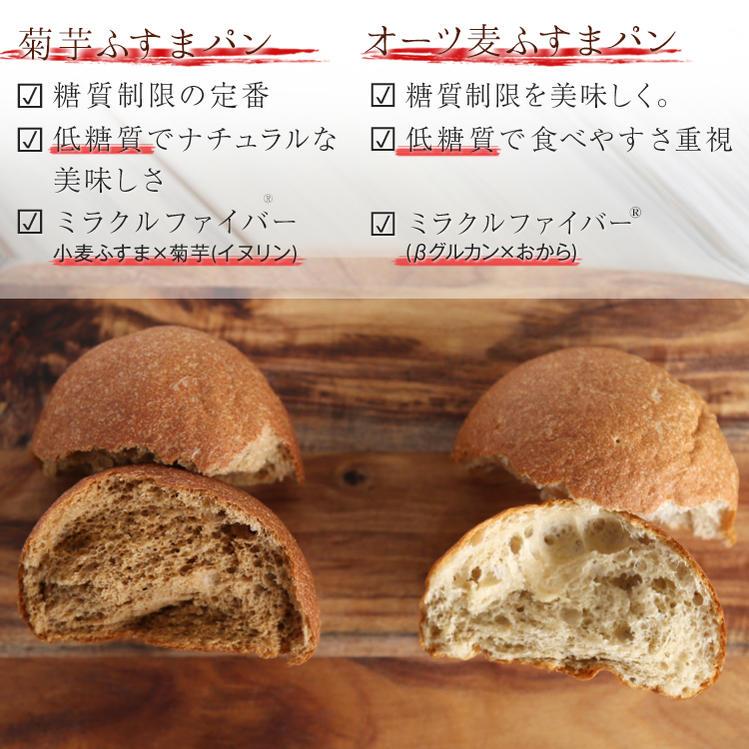 【低糖質 パン 糖質制限】ふすまパン食べ比べ10個セット 菊芋ふすまパン5個 オーツ麦ふすまパンプレーン5個 低カロリー 菊芋 イヌリン ブランパン ロカボ ローカーボ βグルカン 冷凍パン ロールパン 糖質置き換え 詰め合わせ 燕麦 えん麦 エンバク 低GI