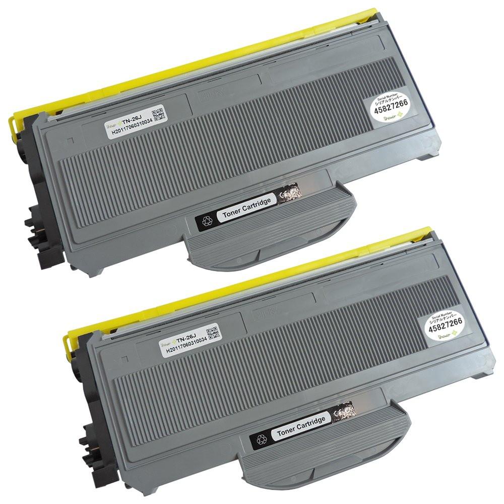 ブラザー用 互換トナーカートリッジ TN-26J (ブラック×2本) シリアルナンバー付 安心一年保証