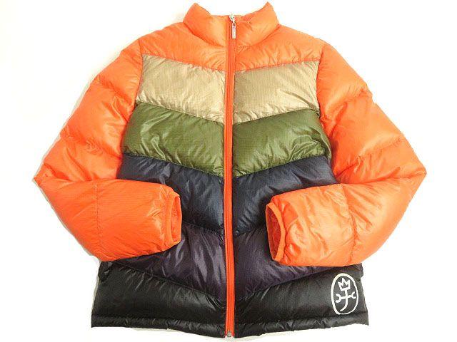 【中古】美品◎CASTELBAJAC カステルバジャック ロゴプリント ダウンジャケット 1 マルチカラー 正規品 小さめサイズ◎