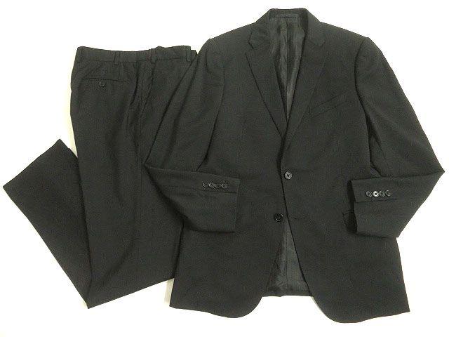 【中古】美品◎ARMANI COLLEZIONI アルマーニ METROPOLITAN シングルスーツ ブラック 50/R 正規品 ビジネスシーン◎