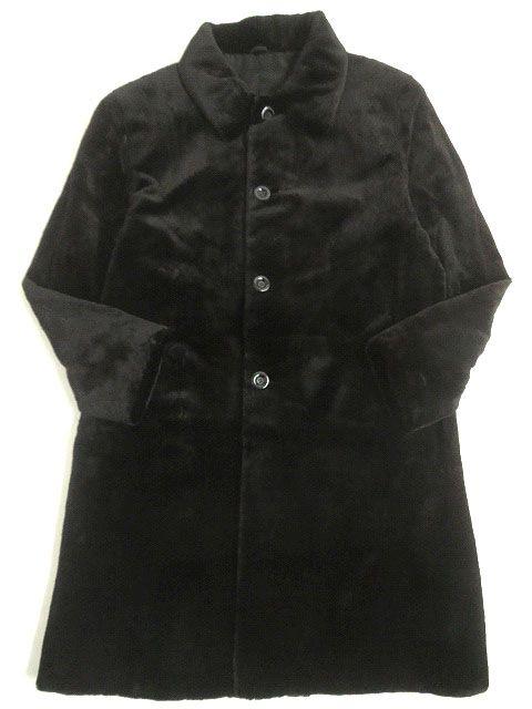 【中古】美品▼メンズ用 SAGA MINK サガシェアードミンク 本毛皮超ロングコート ブラック F 毛質柔らか◎