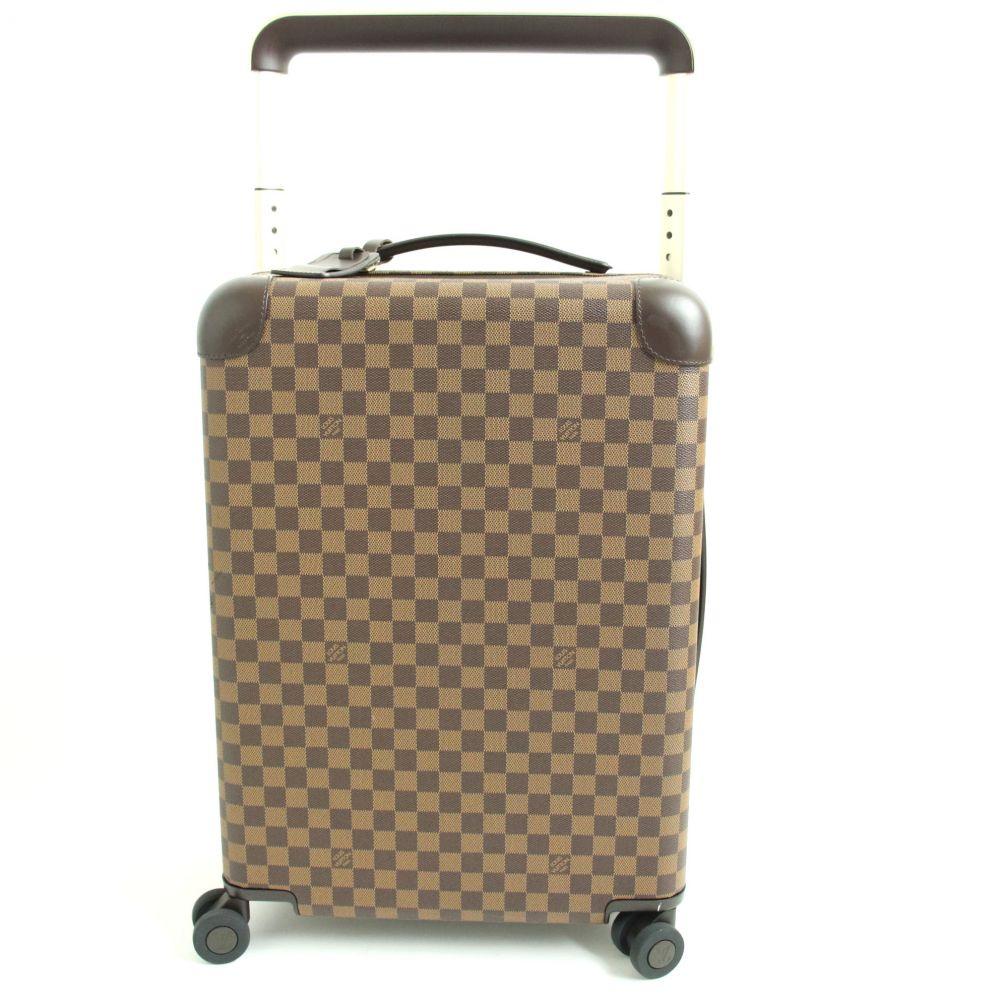 【中古】美品▽ルイヴィトン N23304 ホライゾン55 ダミエキャンバス TSAロック搭載 スーツケース/キャリーケース ブラウン フランス製