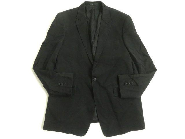 【中古】良品◎EMPORIO ARMANI エンポリオアルマーニ 黒タグ DAVID LINE シングルジャケット/テーラード ブラック 54 正規品 イタリア製 メンズ
