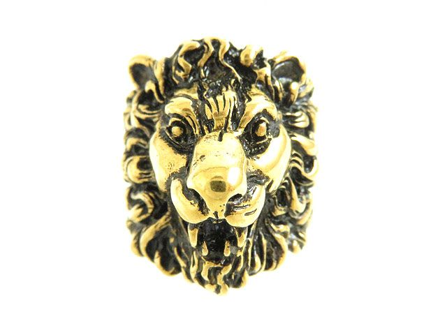 4200221f6 Recommendation made in quality goods ○ Gucci GUCCI 398601 lion head ring /  ring gold ...