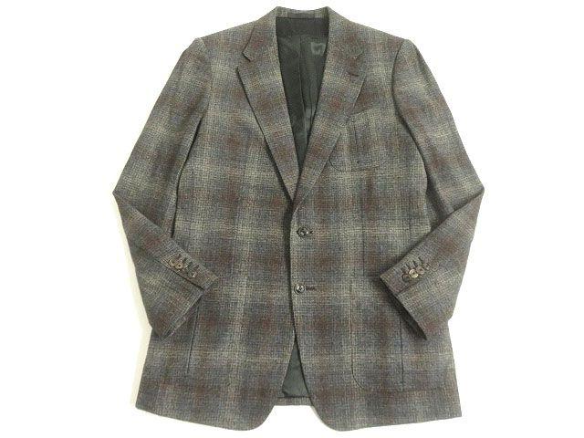 【中古】極美品▽LOUIS VUITTON ルイヴィトン ツイードジャケット/シングルジャケット ミックス 50 メンズ イタリア製 正規品