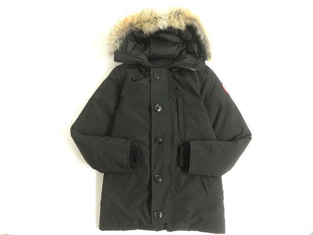 【中古】美品◆CANADA GOOSE カナダグース 3426MA シャトー ファーフード・ワッペン付き ダウンジャケット ブラック XS 正規品 カナダ製 メンズ