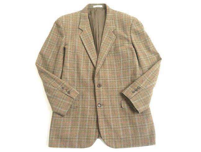 【中古】良品▽Papas パパス チェック柄 ツイードジャケット/シングルジャケット ミックスカラー L 48 正規品