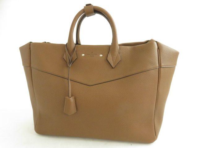 【中古】極美品★ルイヴィトン LOUIS VUITTON M42683  トリヨンレザー アルマンドトート ブラウン イタリア製 保存袋付き